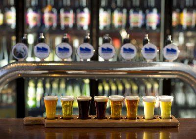 Lobethal bierhaus taps and paddle