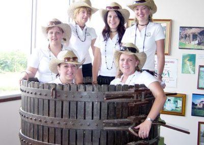 Chateau Dorrien girls in a press