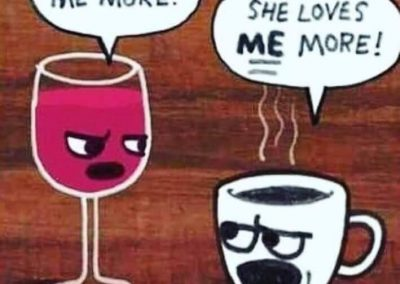 Wine v Coffee