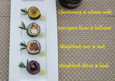 shingleback sushi pairing
